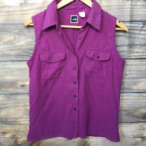 THE NORTH FACE vintage button blouse in violet
